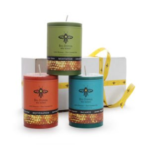 Beeswax Aromatherapy Candle Pillar Gift Set