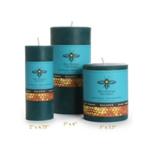 Beeswax Aromatherapy Pillars: Lavender Peppermint