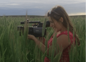Shelley Rogers with camera