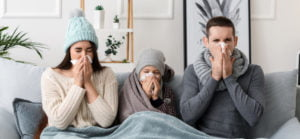 family sick during flu season